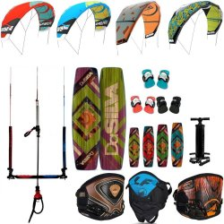 Kite set harness, board, pump and bar Liquid Force
