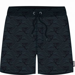 Men's shorts Mosconi Ancon Black Waves - 1