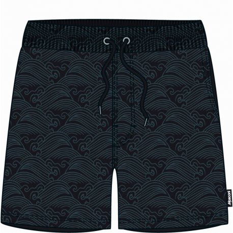 Men's shorts Mosconi Ancon Black Waves - 1