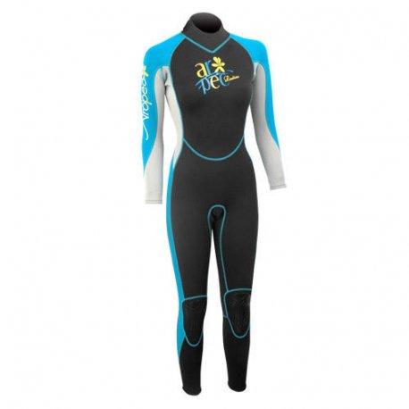 Wetsuit women's Aropec Vitality Fullsuit Turquoise - 1