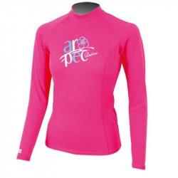 Блуза ликра с ултравиолетова защита Aropec Marvel дълъг ръкав, розова - 1