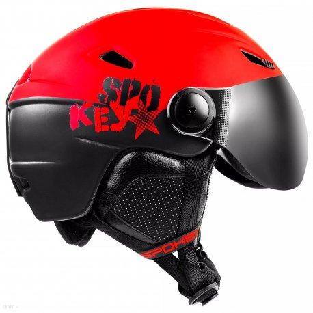 Helmet Spokey Jasper Red with replaceable visor - 3
