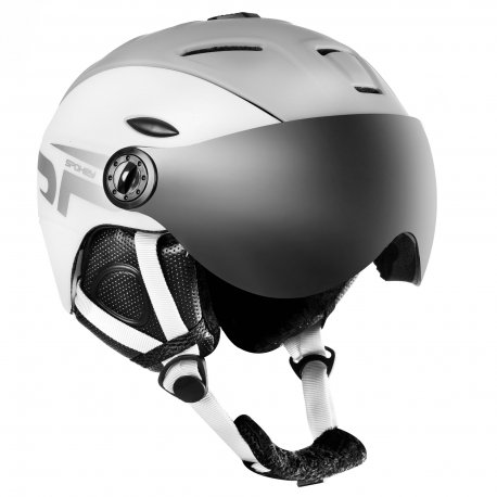 Каска за ски и сноуборд с визьор Spokey Montana White - 1
