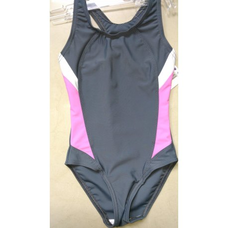 Swimming suit Prestige 0056 grey with pink - 1