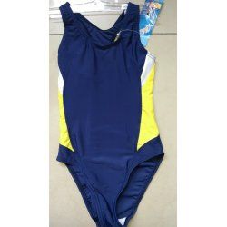 Swimming suit Prestige 0056 blue with yellow