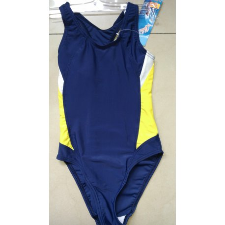 Swimming suit Prestige 0056 blue with yellow - 1