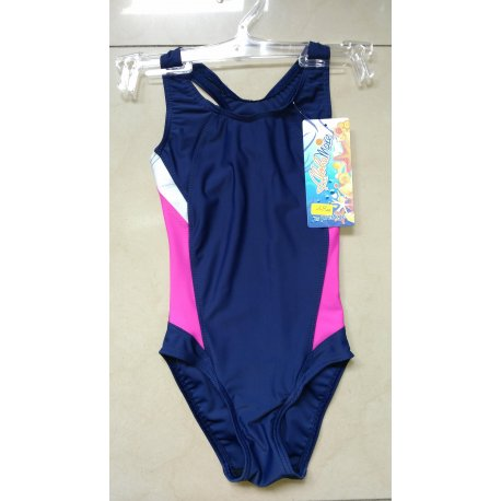 Swimming suit Prestige 0056 dark blue with pink - 1