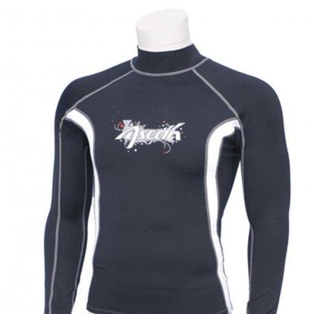 Блуза ликра с ултравиолетова защита Ascan дълъг ръкав черна - 1
