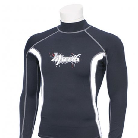 Rashguards with UV protection - Rashguard Ascan long sleeve black