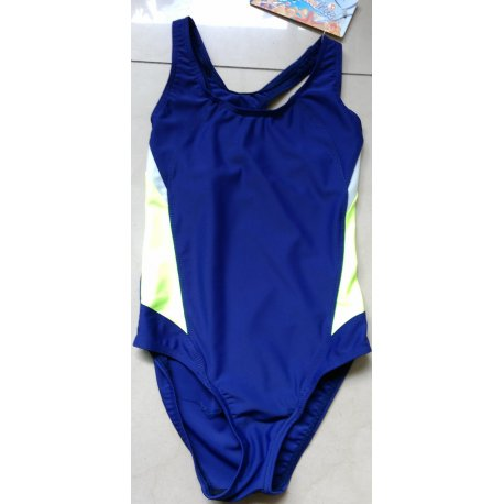Swimming suit Prestige 0056 blue with green - 1