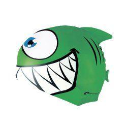 Swimming cap Spokey 87474 green shark - 1