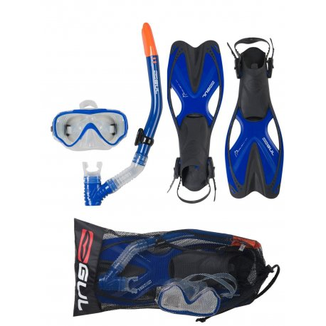 Mask, Snorkel & Fin Set Junior Taron - 1
