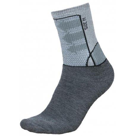 Чорапи Alpine Pro Jarix с мериносова вълна сиви - 1