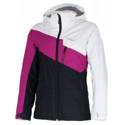 Дамско яке за ски и сноуборд Hannah Shirley Bright white/Fuchsia red