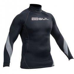 Блуза ликра с пълна ултравиолетова защита GUL мъжка Xola Rashguard дълъг ръкав BKBK