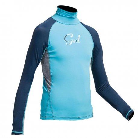 Блуза ликра с ултравиолетова защита GUL детска дълъг ръкав TUNA - 1