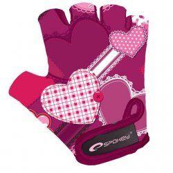 Колоездене - Детски ръкавици за колоездене Spokey Heart glove