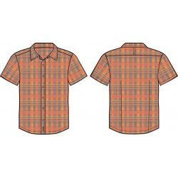 Men's shirt Alpine Pro Balance orange - 1
