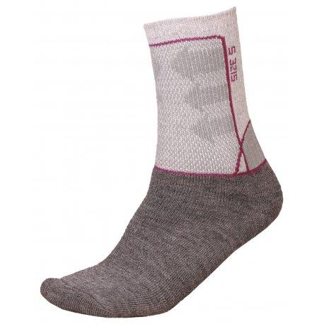 Socks Alpine Pro Jarix 826 grey pink - 1