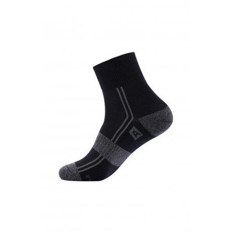 Чорапи Alpine Pro Hare черно и сиво - 1