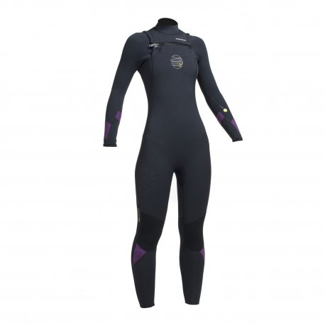 Wetsuit women's GUL 5/4mm Response FX Chest Zip BKMU - 1