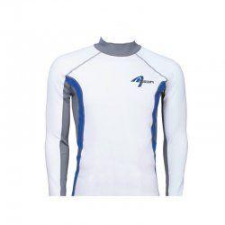 Блуза ликра с ултравиолетова защита Ascan дълъг ръкав бяла