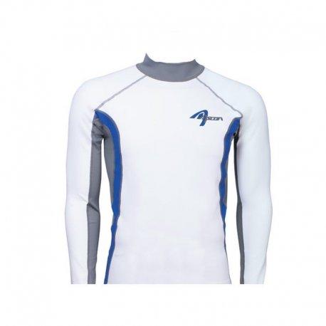 Блуза ликра с ултравиолетова защита Ascan дълъг ръкав бяла - 1