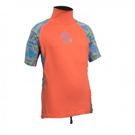 Блуза ликра с ултравиолетова защита GUL детска къс ръкав CRLN - 1