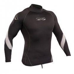 Блуза ликра с ултравиолетова защита GUL Xola Rashguard дълъг ръкав BKBK лого