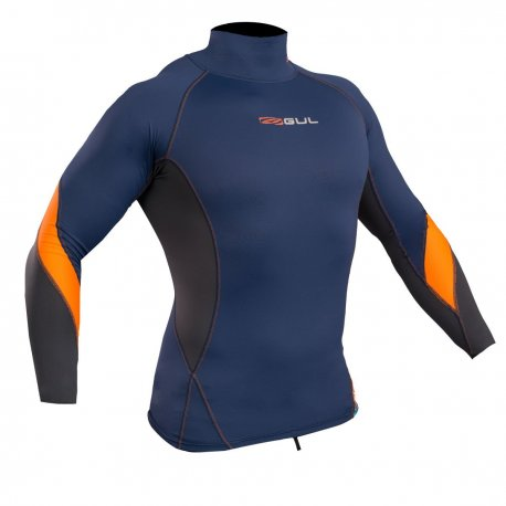 Блуза ликра с пълна ултравиолетова защита GUL мъжка Xola Rashguard дълъг ръкав BLOR - 1