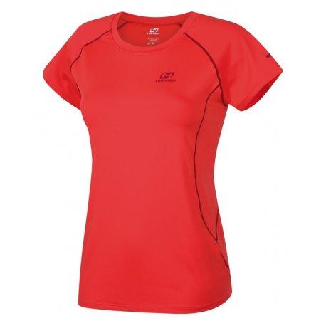 Дамска тениска бързосъхнеща Hannah Speedlora Hot coral - 1