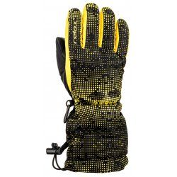 Children's gloves Relax Puzzy RR15D black yellow