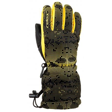 Детски ръкавици Relax Puzzy RR15D черно и жълто - 1