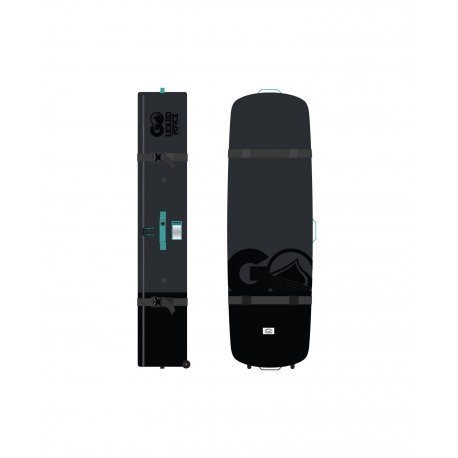 Board bag Liquid Force Coffin Roller Black - 1