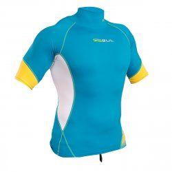Блуза ликра с ултравиолетова защита GUL мъжка Xola Rashguard къс ръкав CPWH