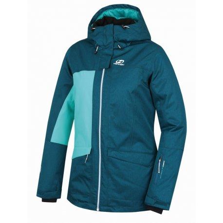 Дамско яке за ски и сноуборд Hannah Rolf deep teal mel - 1