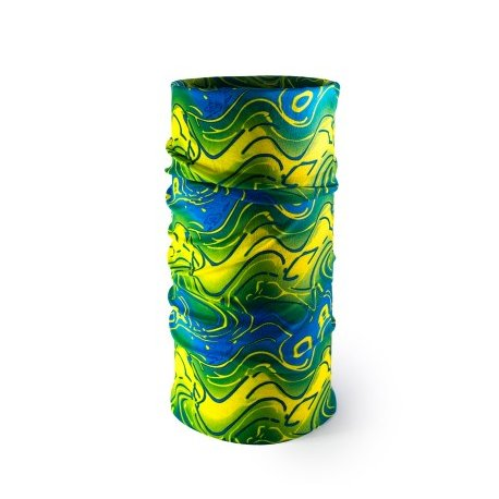 Multi-purpose headwear 21 blue, green, yellow - 1