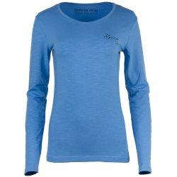 Дамска блуза Alpine Pro Ensla с дълъг ръкав синя - 1