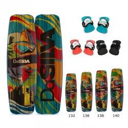 Kiteboard DaSilva Fortress Kite Edition with straps