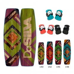 Kite board set with straps DaSilva Dark Shadow