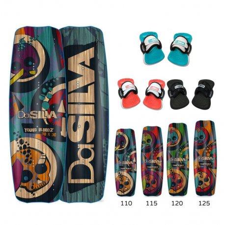 Кайт дъска комплект със страпове DaSilva Young Bloodz - 1