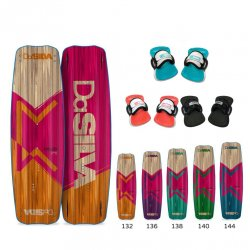 Kite board DaSilva DaMystery - Ladies Edition set with straps