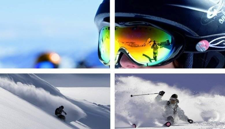 Winter sports - snowboard and ski